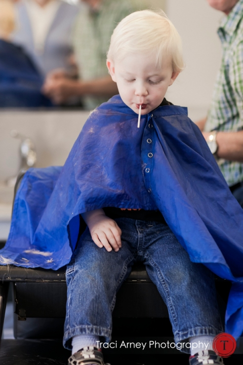 Thatcher's First Haircut